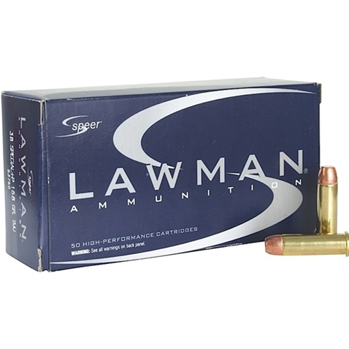 Speer Lawman 38 Special Ammo 135 Grain TMJ