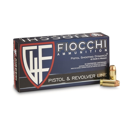 Fiocchi Shooting Dynamics 40 S&W Ammo 180 Gr CMJ Truncated Cone