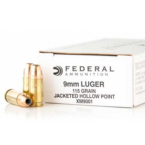 Federal Law Enforcement 9mm Luger Ammo 115 Grain JHP