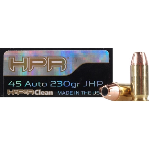 HPR HyperClean 45 ACP Ammo 230 Grain Hornady XTP Jacketed Hollow Point