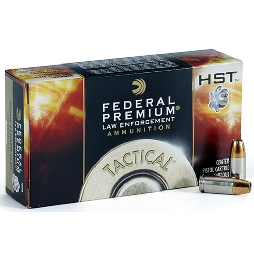 Federal Law Enforcement 9mm Luger Ammo 147 Grain +P HST JHP