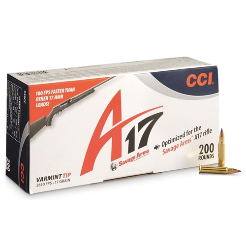 CCI A17 17 HMR Ammo 17 Grain Varmint Tip 200 Rounds