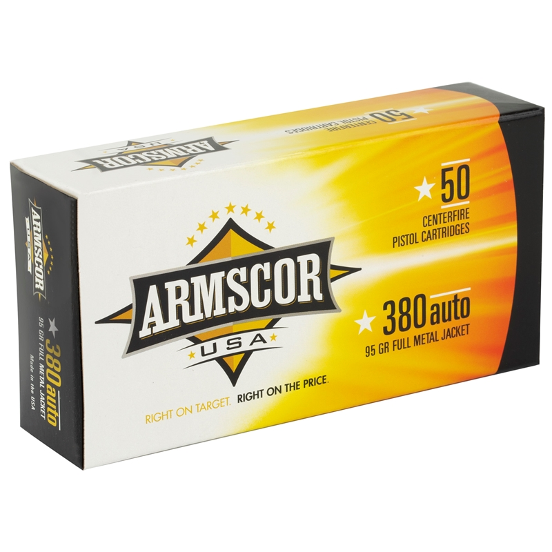 Armscor USA 380 ACP AUTO Ammo 95 Grain Full Metal Jacket