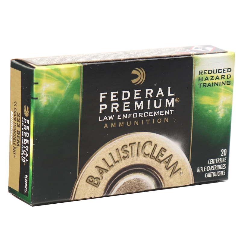Federal BallistiClean 223 Remington Ammo 55 Grain Frangible RHT