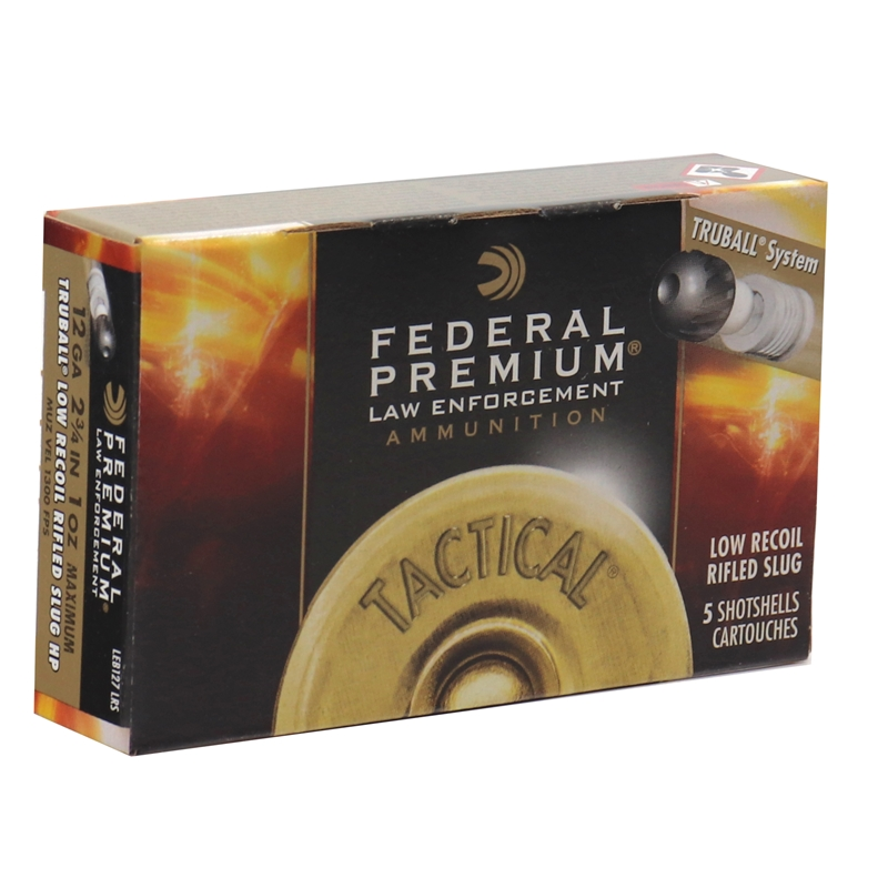 "Federal Law Enforcement 12 Gauge Ammo 2-3/4"" Tactical TruBall Slug"