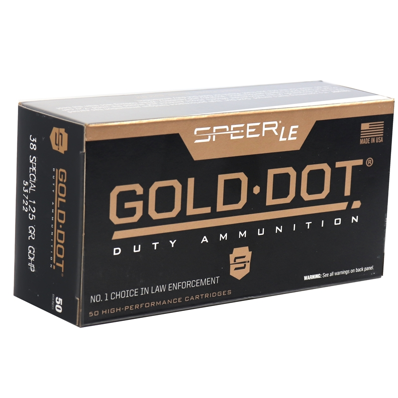 Speer Gold Dot LE Duty 38 Special Ammo 125 Gr JHP
