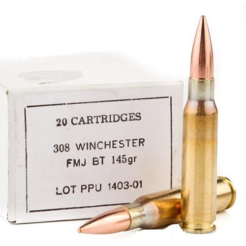 Prvi Partizan 308 Winchester Ammo 145 Grain Full Metal Jacket