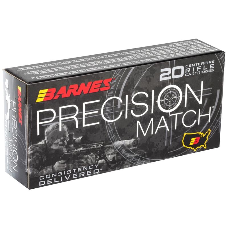 Barnes Precision Match 5.56 NATO Ammo 85 Grain OTM