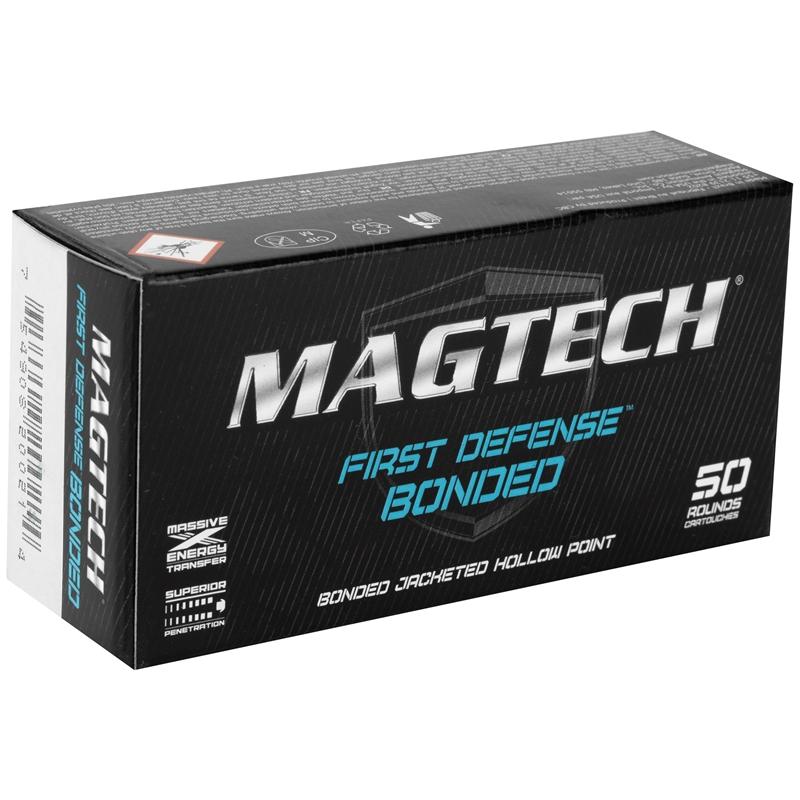 Magtech First Defense 9mm Luger Ammo 147 Grain Bonded JHP