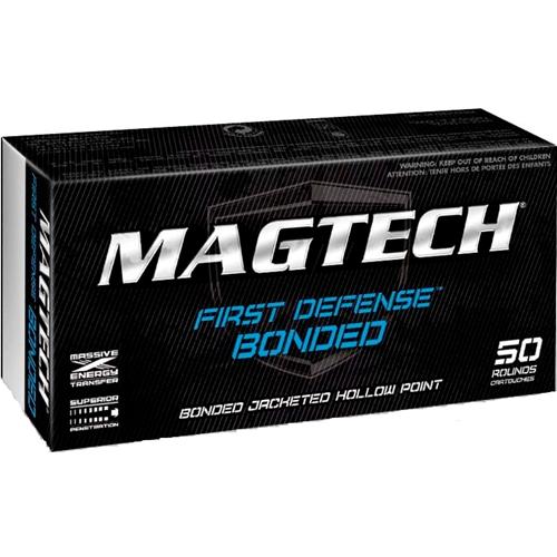 Magtech First Defense 40 S&W Ammo 155 Grain Bonded JHP