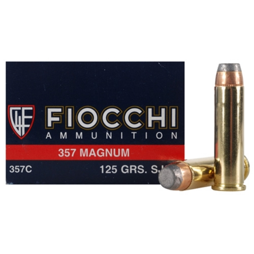Fiocchi Shooting Dynamics 357 Magnum Ammo 125 Grain SJSP