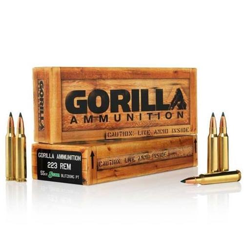 Gorilla Ammunition 223 Remington Ammo 55 Grain BlitzKing