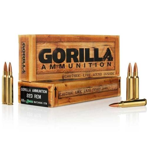 Gorilla Ammunition 223 Remington Ammo 69 Grain Sierra Match King Hollow Point