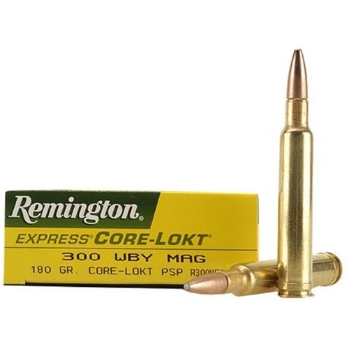Remington Express 300 Weatherby Magnum Ammo 180 Gr PSP