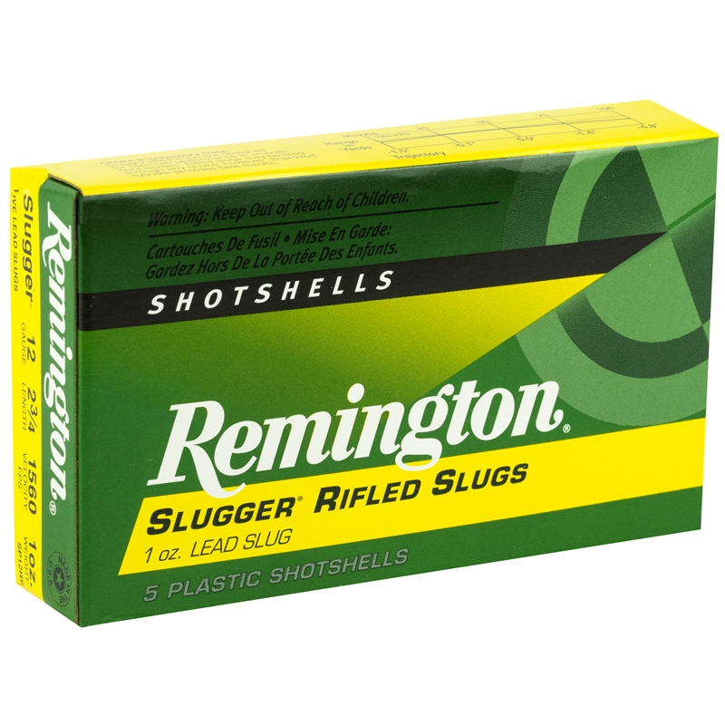 "Remington Slugger Rifled Slug 12 Ga Ammo 2-3/4"" 1oz. Lead Slug"