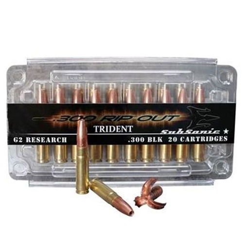 G2R RIP 300 AAC Blackout Subsonic Ammo 200 Grain Solid Copper Hollow Point