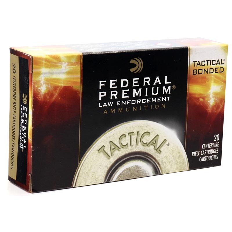 Federal LE Tactical 308 Winchester Ammo 165 Gr Bonded JSP