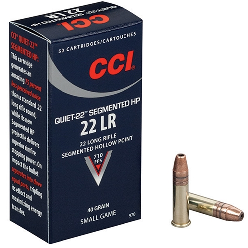 CCI Quiet 22 Long Rifle Ammo 40 Grain Segmented Hollow Point