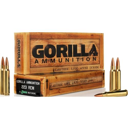 Gorilla Ammunition 223 Remington Ammo 77 Grain Sierra Match King Hollow Point