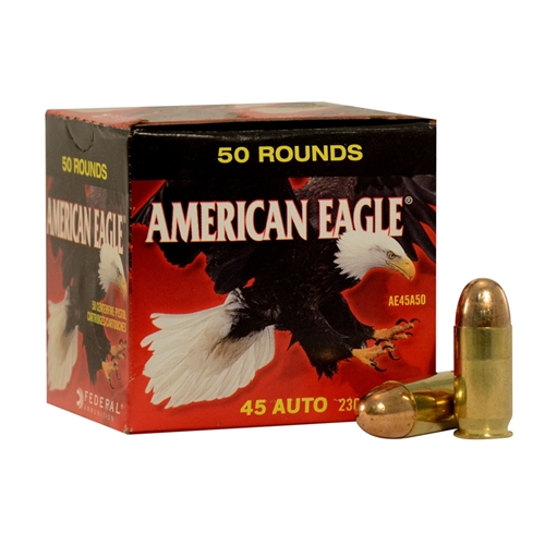 Federal American Eagle 45 ACP Ammo 230 Grain FMJ