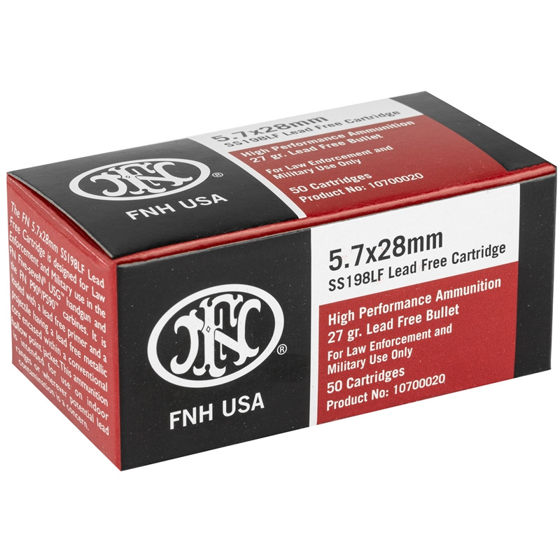 Federal FNH USA 5.7x28mm Ammo 27 Grain Green Tip HP