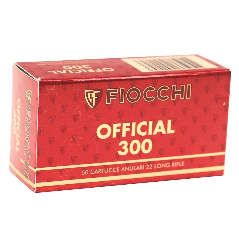 Fiocchi Exacta Pistol Super Match 22 Long Rifle Ammo 40 Grain Lead Round Nose