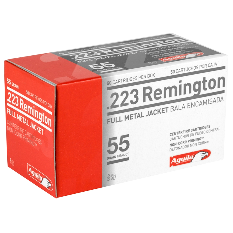 Aguila 223 Remington Ammo 55 Grain Full Metal Jacket