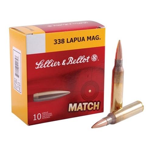 Sellier & Bellot 338 Lapua Magnum 250 Grain HP BT