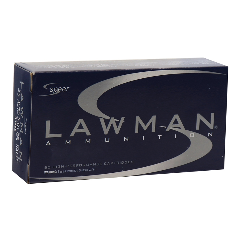 Speer Lawman Cleanfire 45 ACP AUTO Ammo 230 Grain TMJ