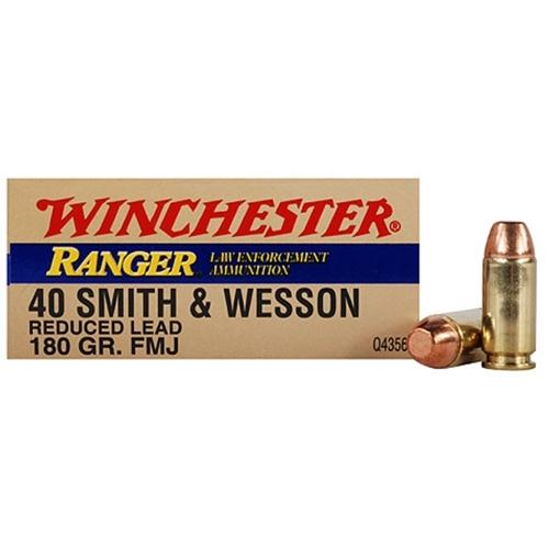 Winchester Ranger 40 S&W 180 Grain Reduced Lead Full Metal Jacket