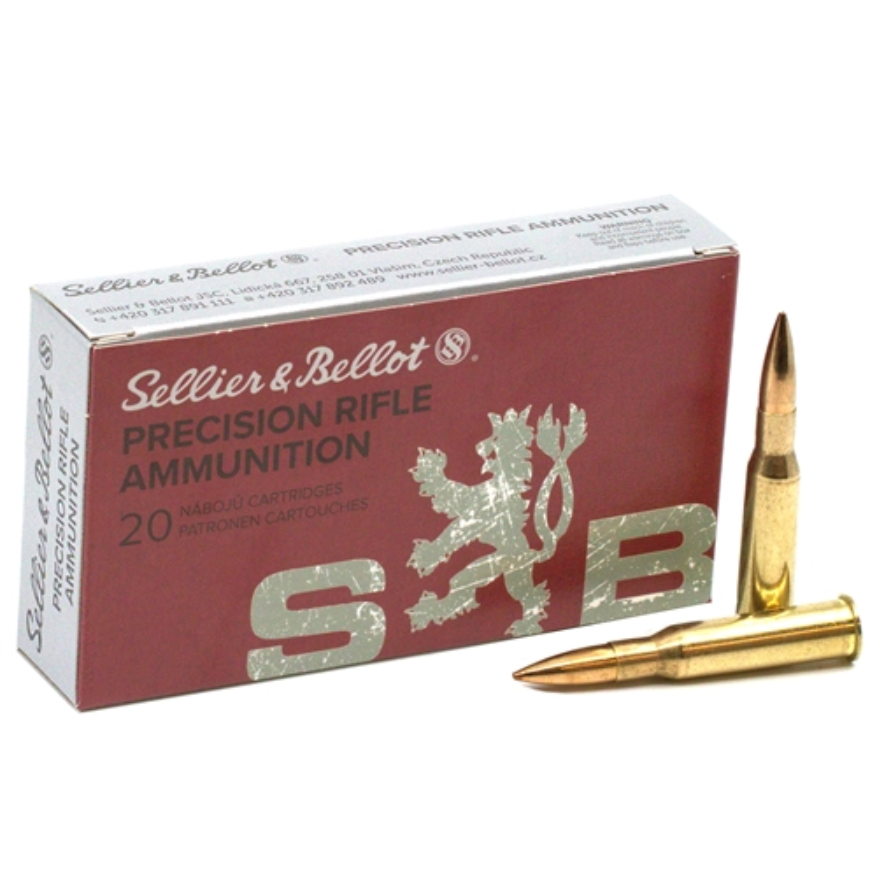 Sellier & Bellot 7.62x54R Ammo 174 Grain Hollow Point BT OTM