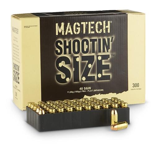 Magtech Shootin' Size 40 S&W Ammo 180 Gr FMJ 300 Rds