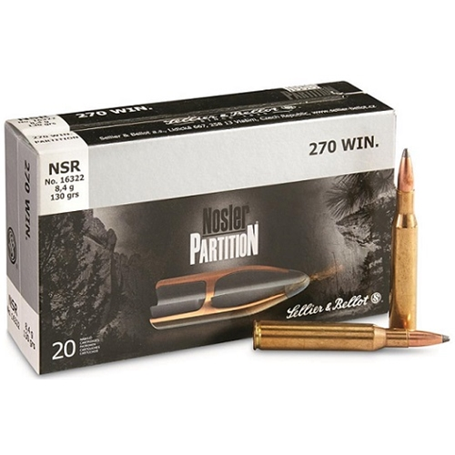 Sellier & Bellot 270 Winchester Ammo 100 Gr Nosler Partition
