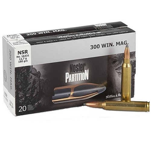 Sellier & Bellot 300 Win Mag Ammo 180 Gr Nosler Partition