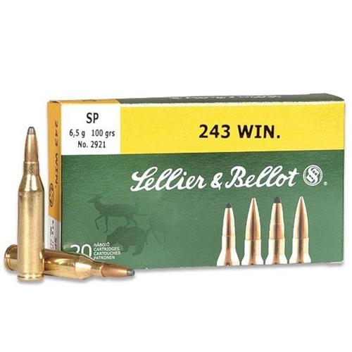Sellier & Bellot 243 Winchester 100 Grain Soft Point