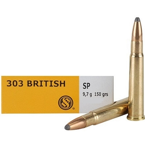 Sellier & Bellot 303 British Ammo 150 Grain SP