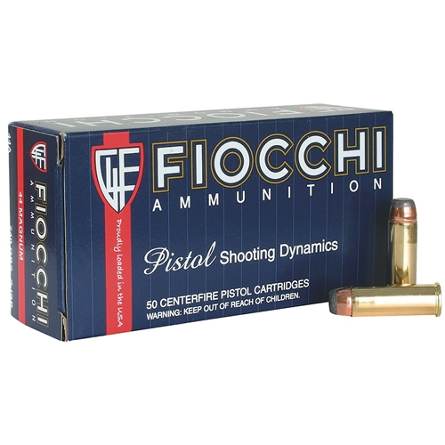 Fiocchi 44 Remington Magnum 240 Grain JSP