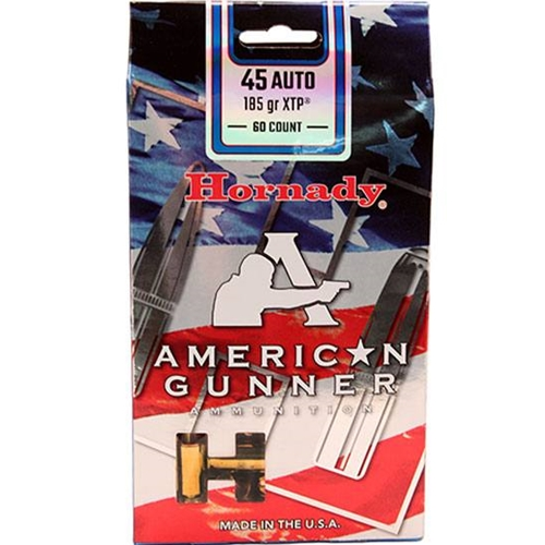 Hornady American Gunner 45 ACP Auto Ammo 185 Gr XTP 60 Rds