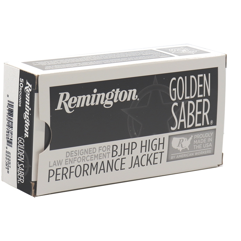 Remington Golden Saber 9mm Luger Ammo 124 Grain BJHP