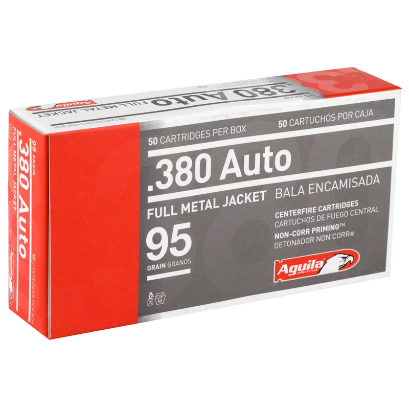 Aguila 380 ACP AUTO 95 Grain Full Metal Jacket