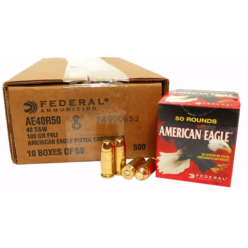 Federal American Eagle 40 S&W Ammo 180 Grain FMJ