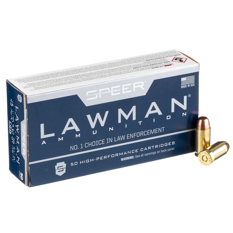 Speer Lawman 45 ACP Auto Ammo 230 Grain TMJ FN