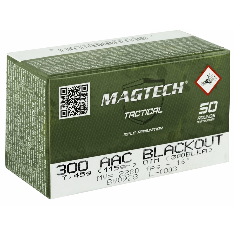 MagTech 300 AAC Blackout Ammo 115 Grain Open Tip