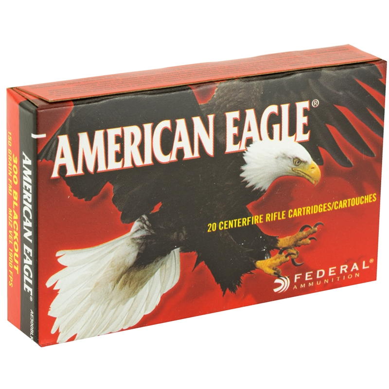Federal American Eagle 300 AAC Blackout Ammo 150 Grain FMJ BT