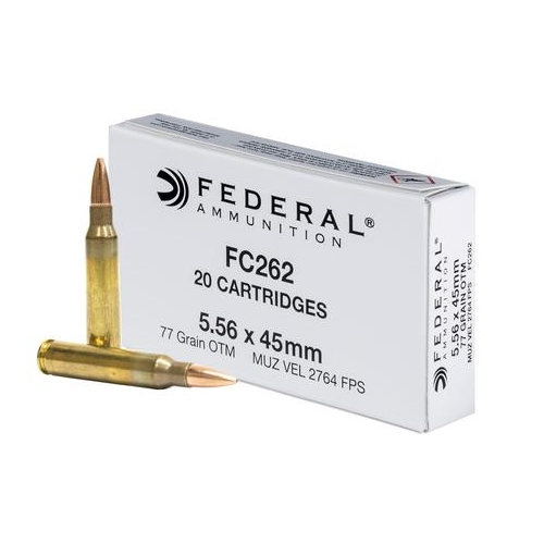 Federal American Eagle 5.56 NATO 77 Grain Open Tip Match