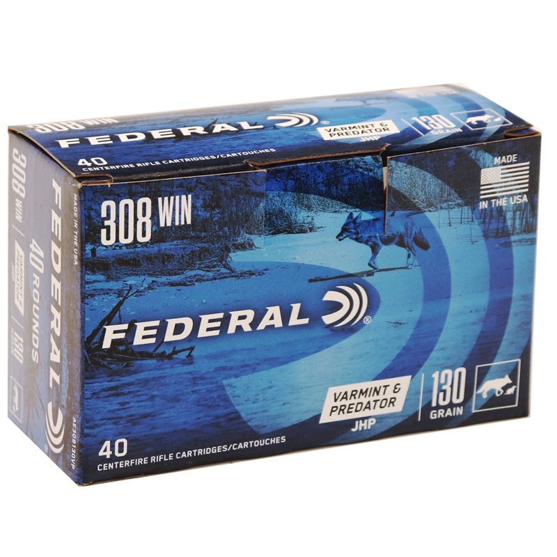 Federal American Eagle VP 308 Winchester Ammo 130 Grain JHP