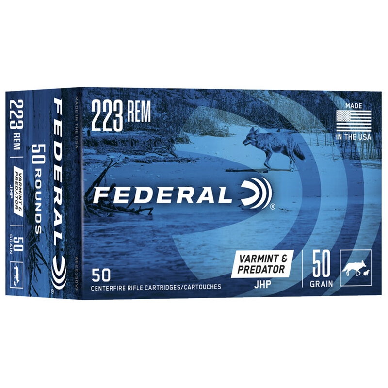 Federal American Eagle VP 223 Remington Ammo 50 Grain JHP