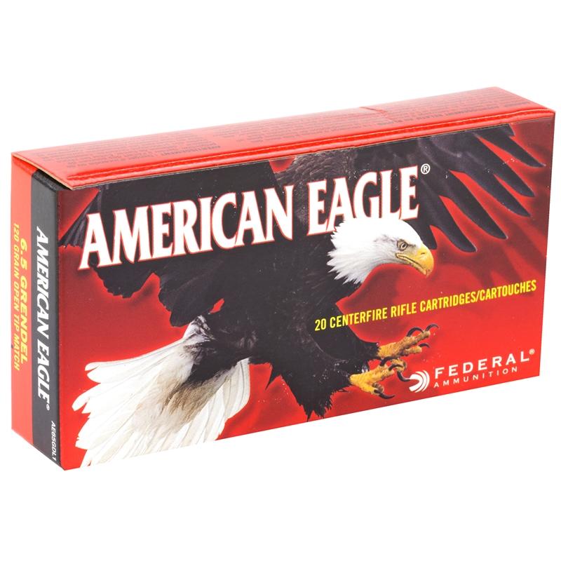 Federal American Eagle 6.5 Grendel Ammo 120 Grain OTM