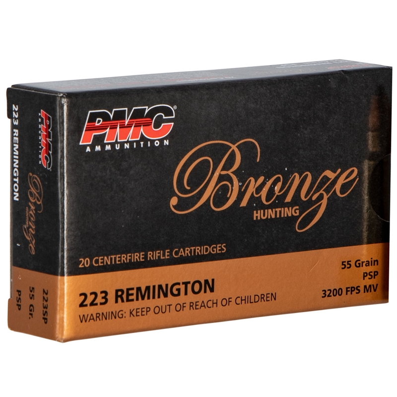 PMC Bronze 223 Remington Ammo 55 Grain PSP