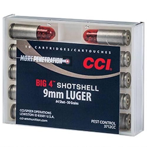 CCI Big 4 Shotshell 9mm Luger Ammo #4 Lead Shot
